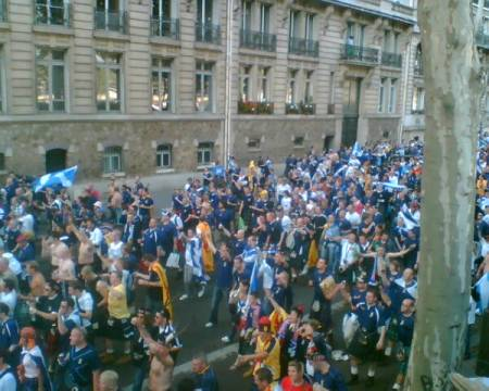 Tartan Army on the march in Paris