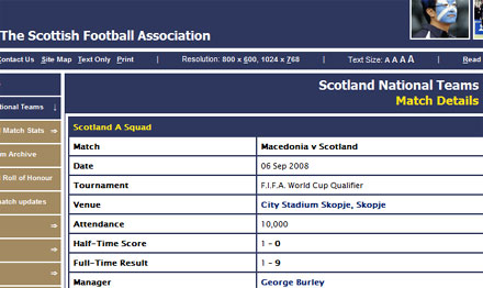 Scotland win 9-1 in Macedonia