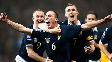 Scott Brown celebrates